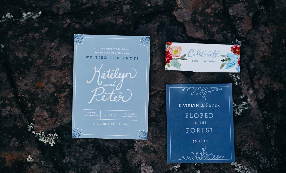 beloved pine studio elopement announcement