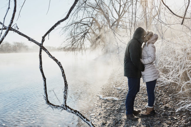 Cordelia Haugen Winter Engagement Session