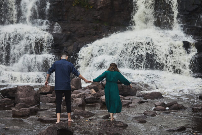 gooseberry falls engagement session Cordelia Haugen Photographer